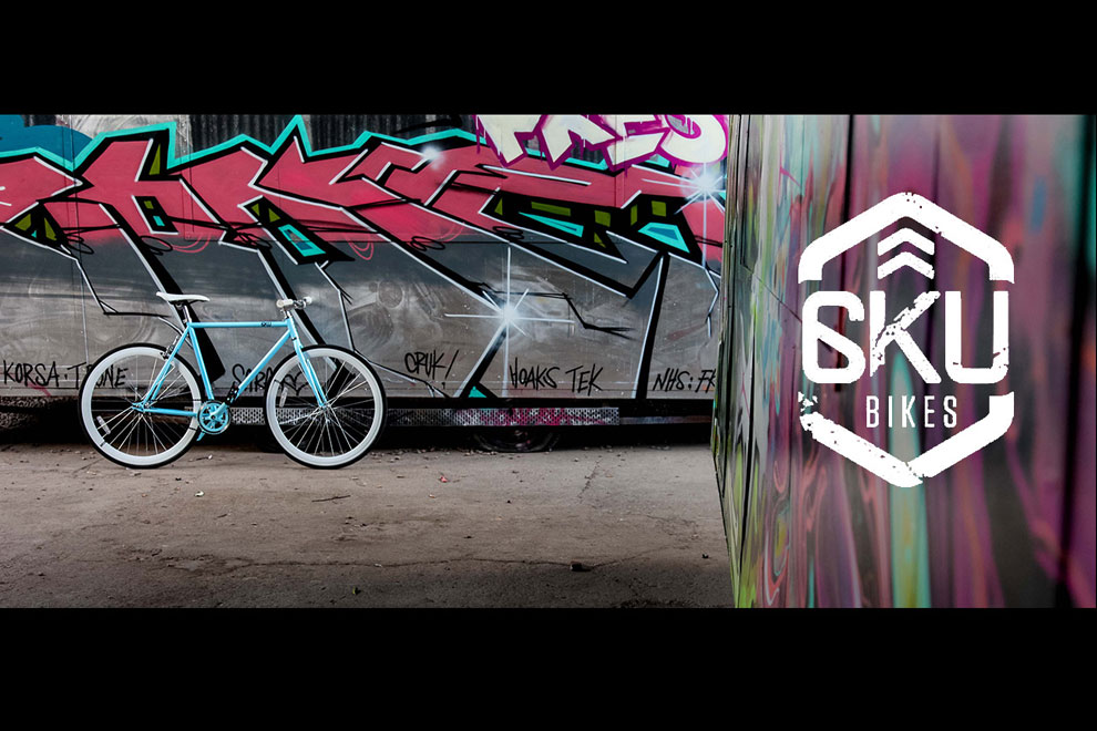 Advertising commercial photographer Birmingham and London Bike against a graffiti background