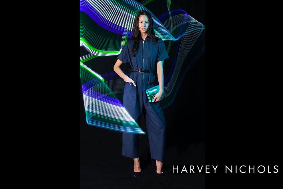 Fashion Photographer UK commission for Harvey Nichols and Victoria Beckham