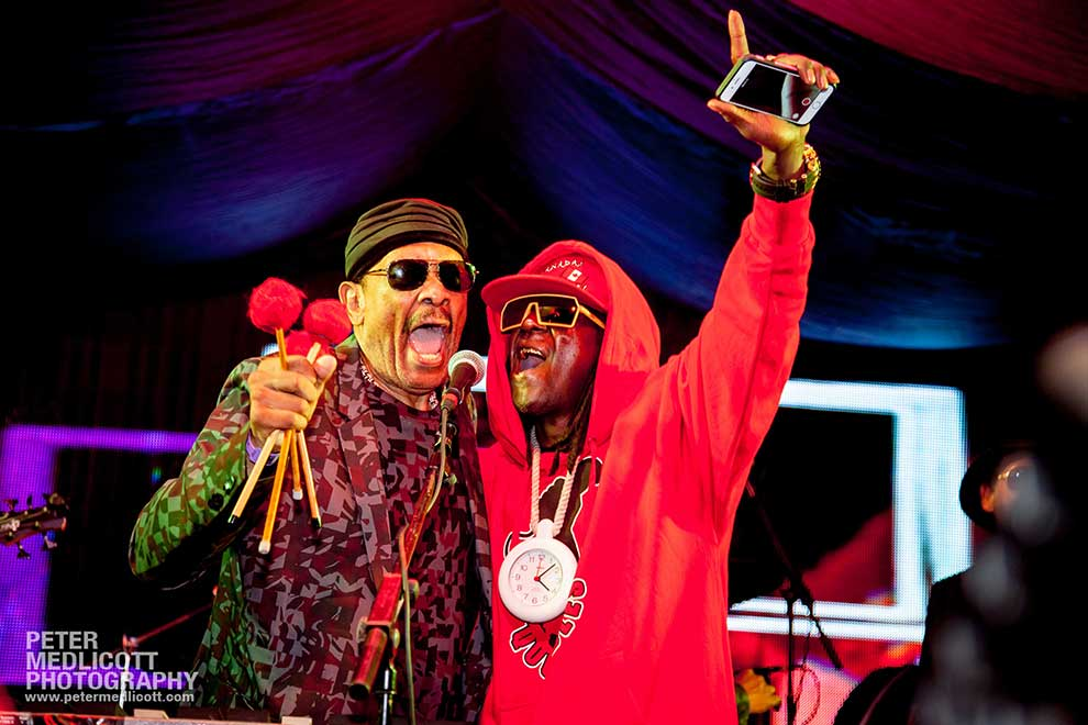 Roy Ayers and Flava Flav on stage by Event Photographer in Birmingham