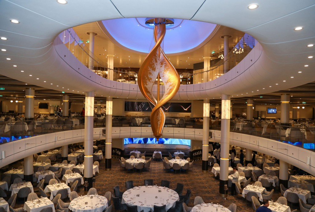 Spectrum-of-the-Seas-Main-Dining-Room-Sculpture-by-artist--Peter-Medlicott