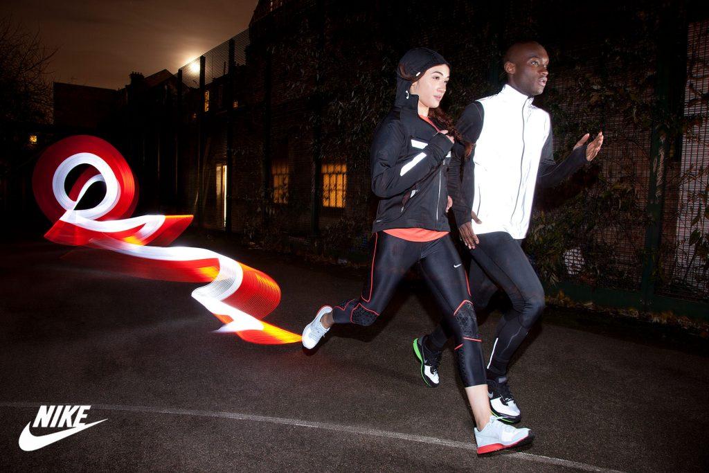 Advert for Nike Running Wear by Peter Medlicott