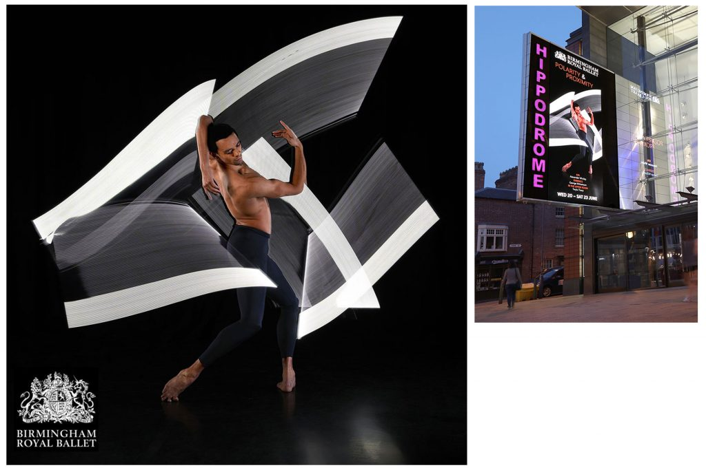 Advert for Birmingham Royal Ballet by Peter Medlicott
