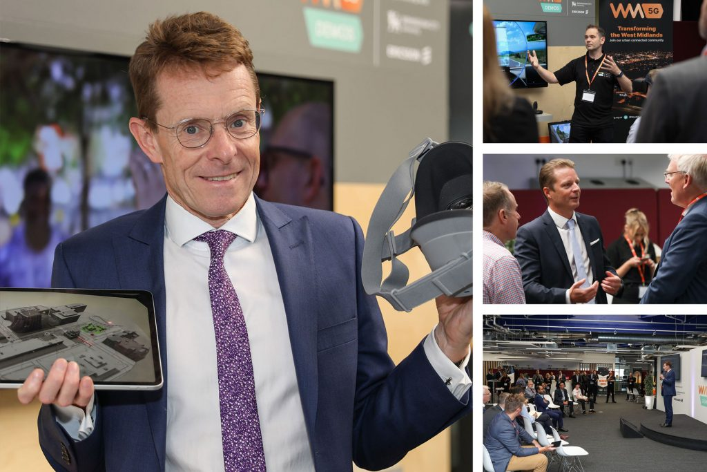 Andy Street at a Corporate 5G Launch event
