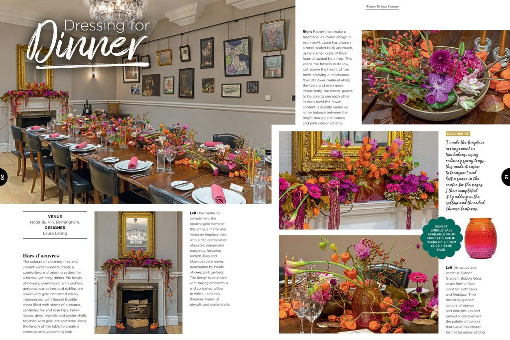 Editorial and PR Photography in Birmingham and London , Front cover of Interflora Mercury Magazine