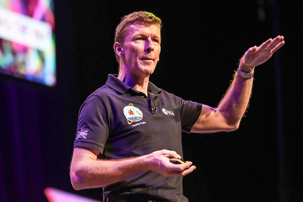 Astronaut Tim Peake speaking at a Conference Photographer in Birmingham by Peter Medlicott, Corporate Event Photography Birmingham